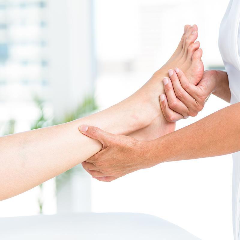 Voet en onderbeen massage bij Pedicure Vleuten